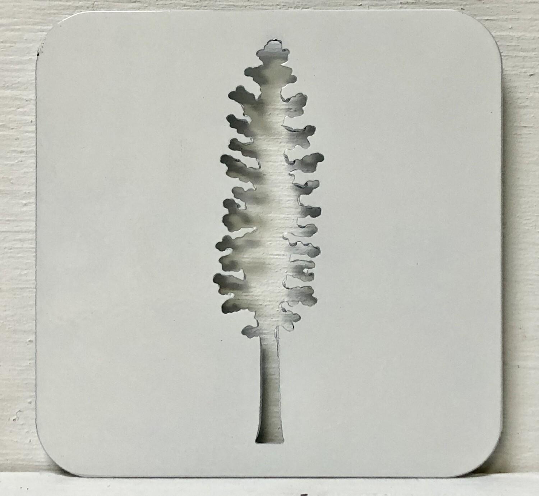 Sitka Tree Laser Cut Metal Coaster