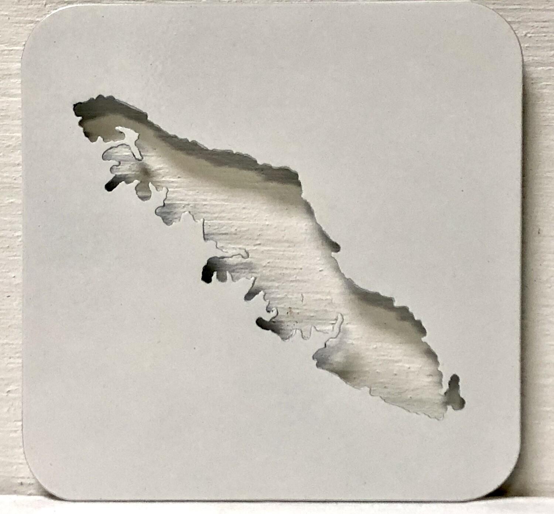 Vancouver Island  Laser Cut Metal Coaster