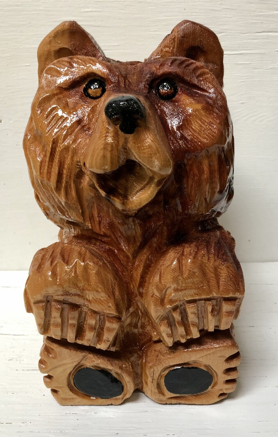 Chainsaw Carved Sitting Bear