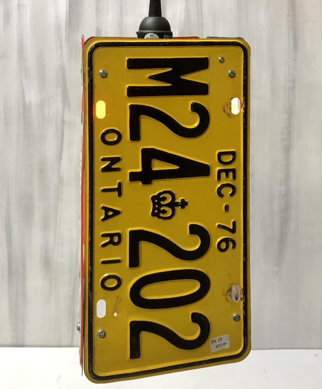 License Plate Pendant Lamp