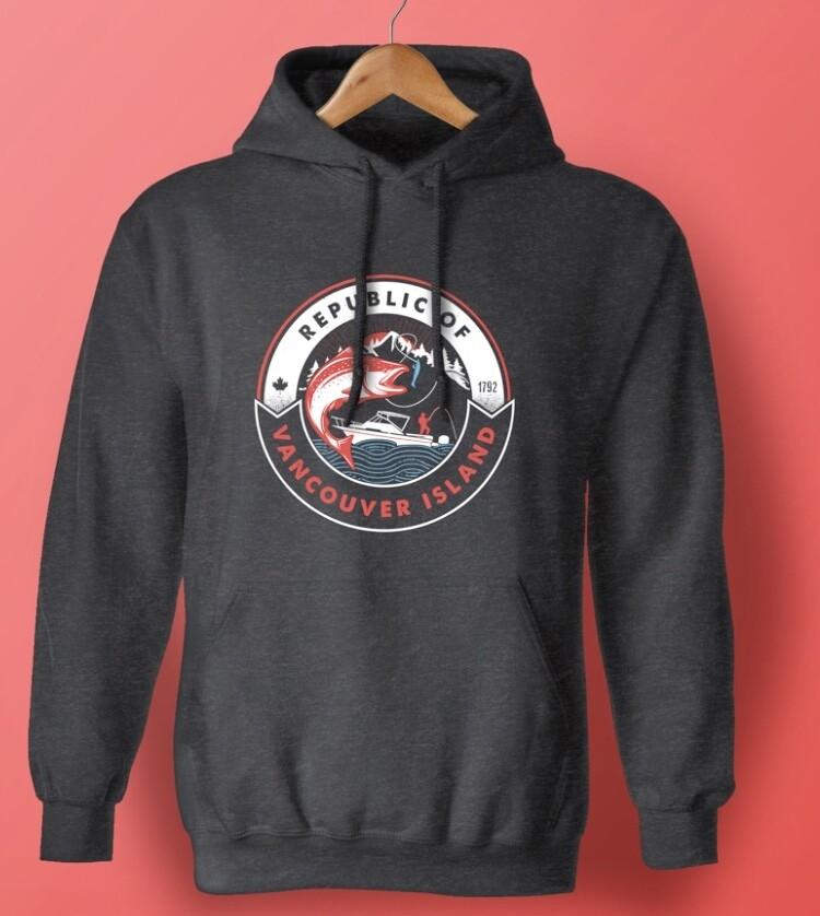 Republic Of Vancouver Island Salmon Logo Hoodie