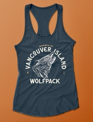 Republic Of Vancouver Island Wolf Logo Tank Top