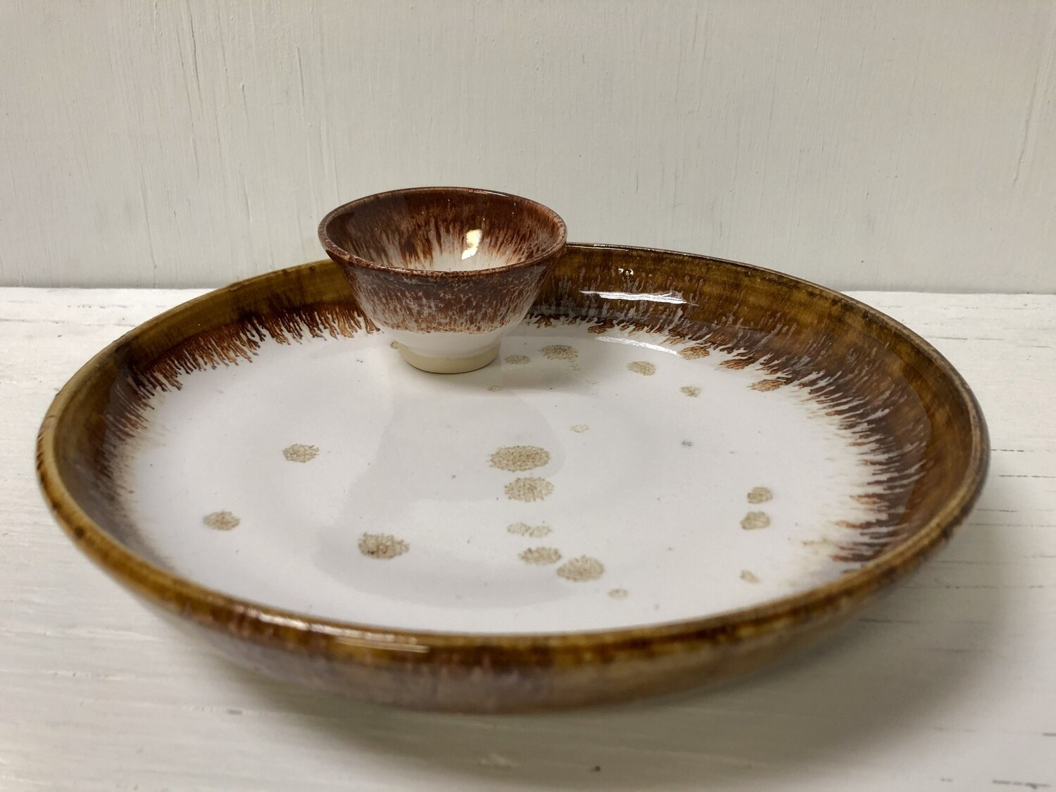 Dinner Plate With Dipping Bowl