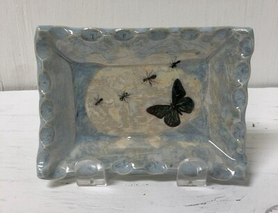Sushi Plate/W Butterfly And Ants