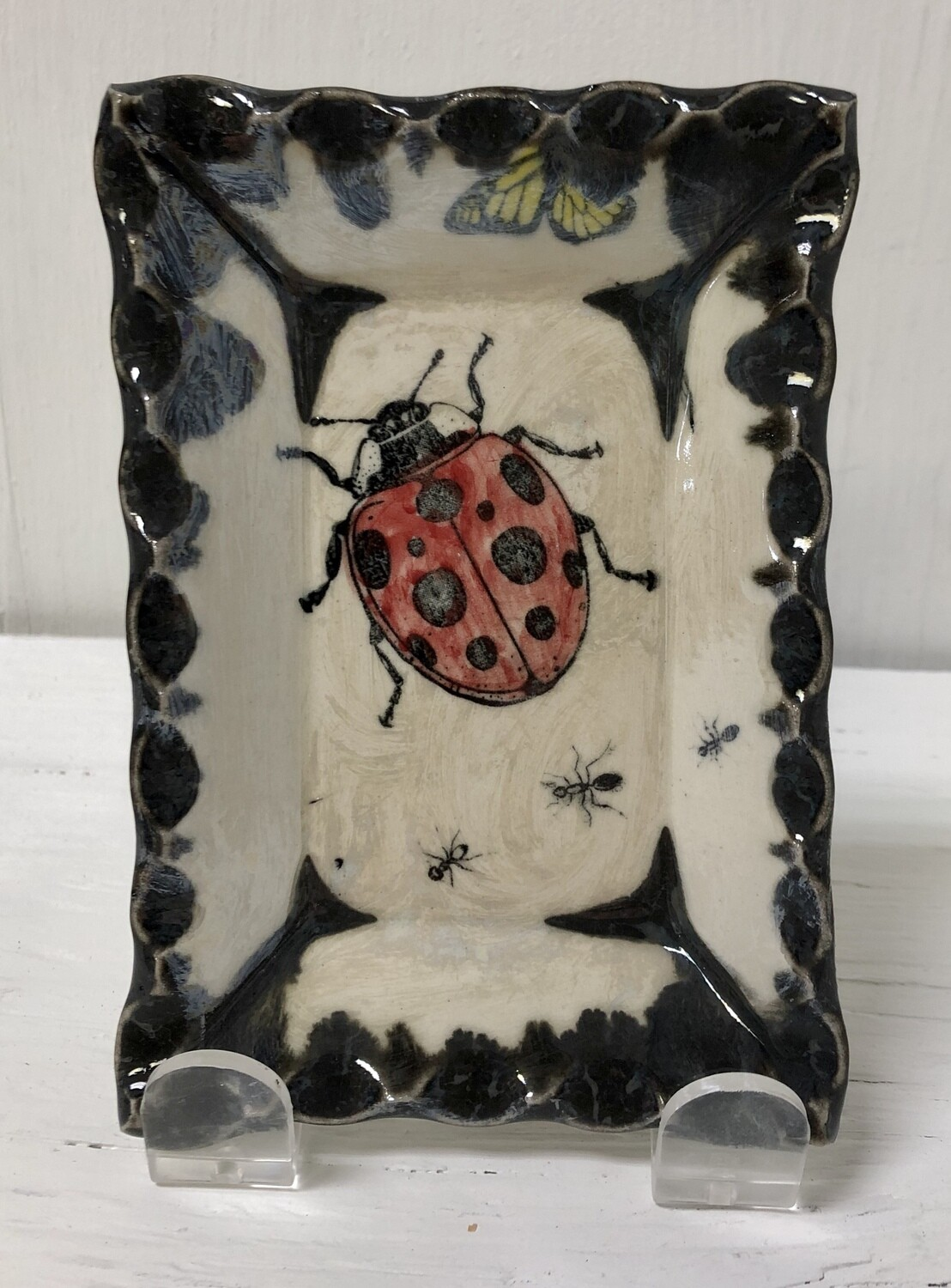 Small Sushi Plate/W Ladybug And Ants