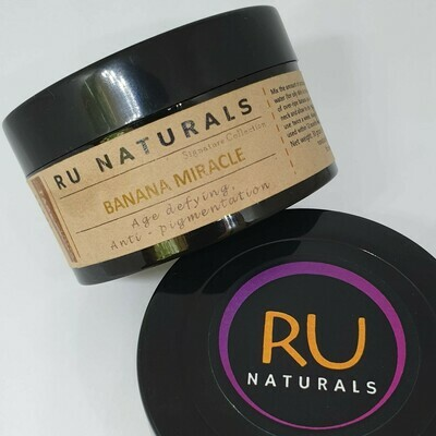 RU Naturals Banana Miracle Face Pack 30gm pack