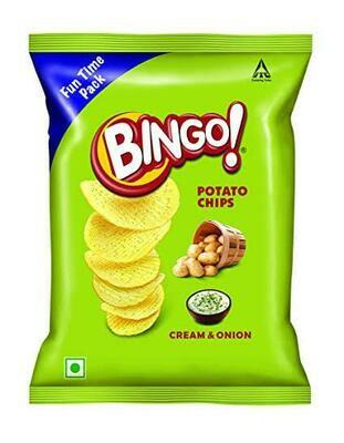 Buy Bingo Yumitos Cream and Onion (Pack of 2 x 138g)