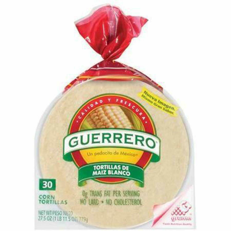 """Guerrero White Corn Tortilla 6"""" 30ct"""