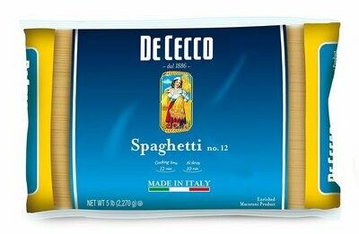 Pasta De Cecco Spaghetti Thin (5 lbs Bag)