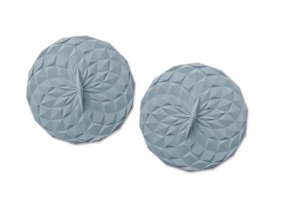 GIR Silicone Round Lid 4-inch 2-pk - Slate