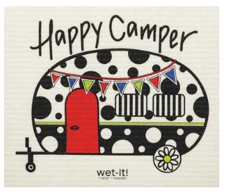 Wet-It Happy Camper Swedish Dishcloth