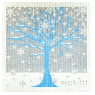 Wet-It Winter Tree Swedish Dishcloth