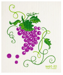 Wet-It Grapes Swedish Dishcloth