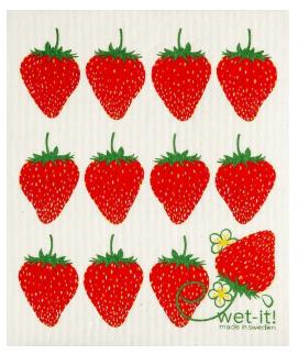 Wet-It Strawberries Swedish Dishcloth