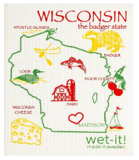 Wet-It Wisconsin Swedish Dishcloth