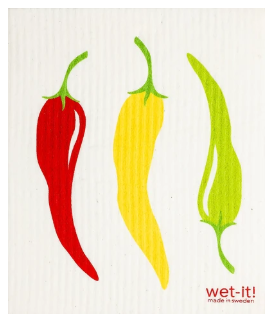 Wet-It Peppers Swedish Dishcloth