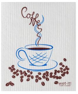 Wet-It Coffee Swedish Dishcloth