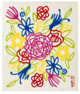 Wet-It Flowers Swedish Dishcloth