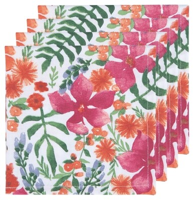 Now Designs Set of 4 Napkins - Botanica