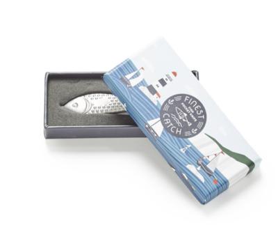 Two's Co Fish Pocket Knife & Key Chain - Lake Life 2