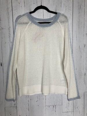 Blue Trim Sweater