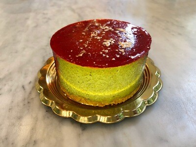 NEW! Pistachio-Cherry Cheesecake