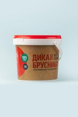Пюре брусничное «Дикая Сибирь» пласт. ведерко 1 кг