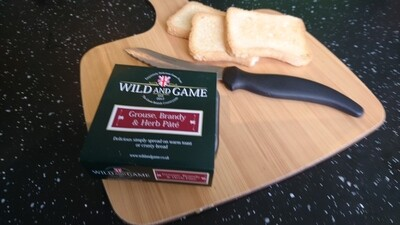 WILD & GAME - GROUSE, BRANDY & HERB PATE 120G