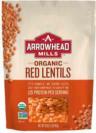 ARROWHEAD MILLS RED LENTILS 16OZ EA