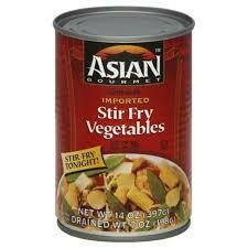 ASIAN GOURMET VEGETABLES STIR FRY 14 OZ