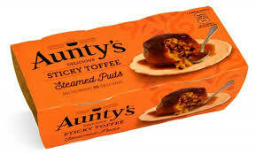 AUNTYS STICKY TOFFEE PUDDING 2X100G