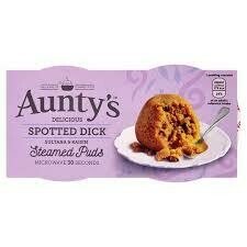 AUNTYS SPOTTED DICK PUDDING 2 X 100G