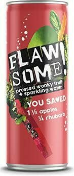 FLAWSOME! APPLE & RHUBARB BUBBLY CAN