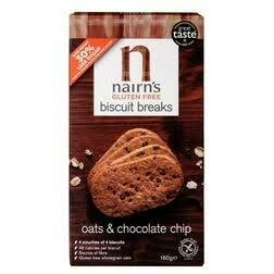 NAIRNS GLUTEN FREE CHOCOLATE BISCUIT  160G