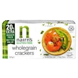 NAIRNS GLUTEN FREE WHOLEGRAIN CRACKERS 137G