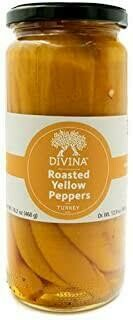 DIVINA BLUE - ROASTED YELLOW PEPPERS 13OZ