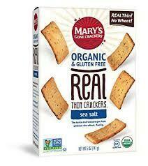 MARY'S - GF SEA SALT THIN CRACKER 6.5 OZ