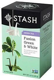 STASH FUSION GREEN & WHITE TEA 18 x BAG EA