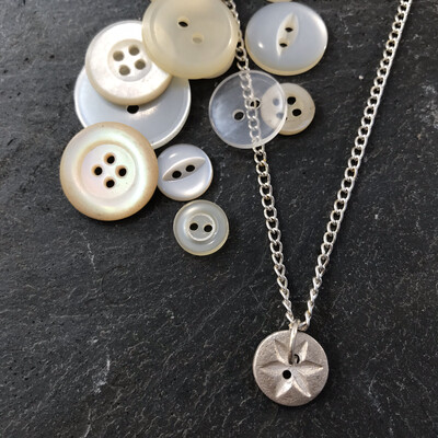 Silver Button Jewellery