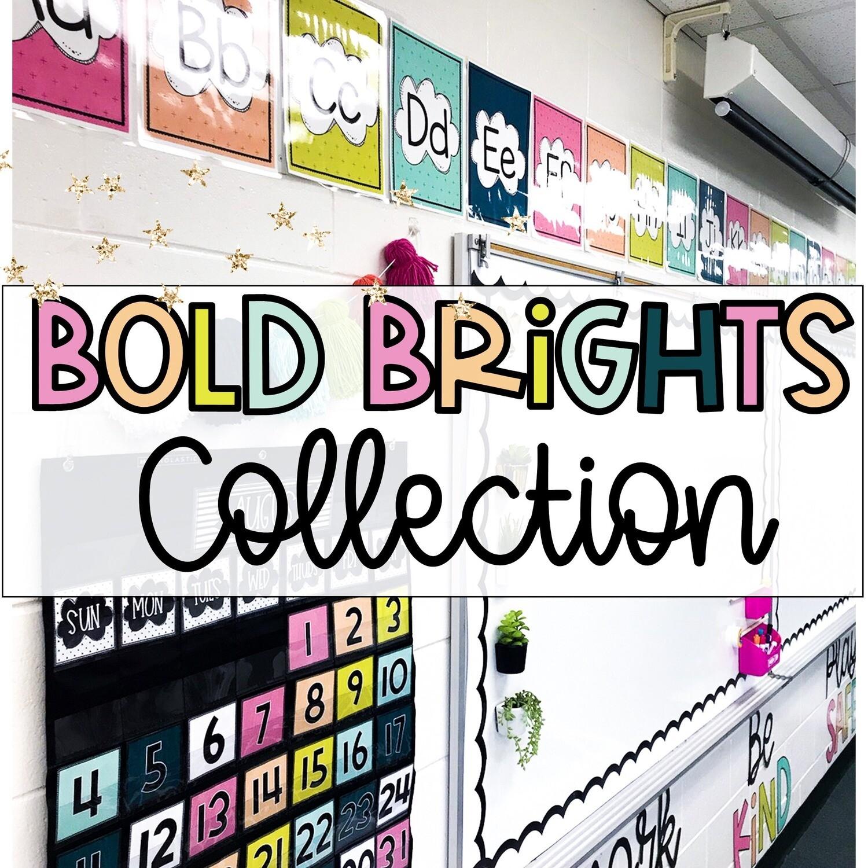 Bold Brights Classroom Decor Bundle