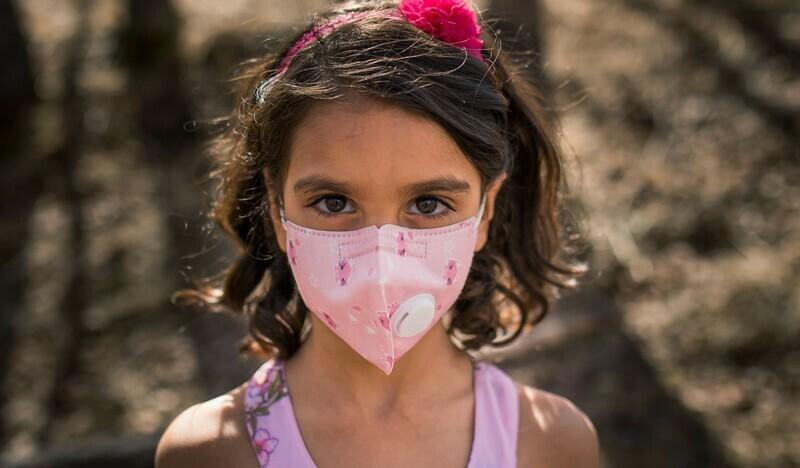 KN95 Kids Face Masks w/ Particulate Respirator PM 2.5 Filter -Pink