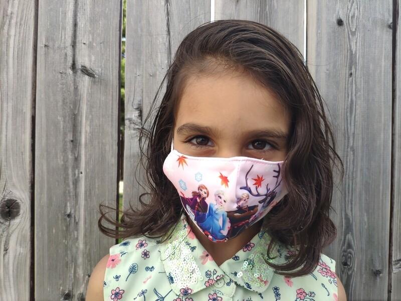 Kids Reusable Face Masks - Disney Frozen Characters
