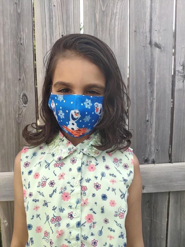 Kids Reusable Face Masks - Disney Olaf