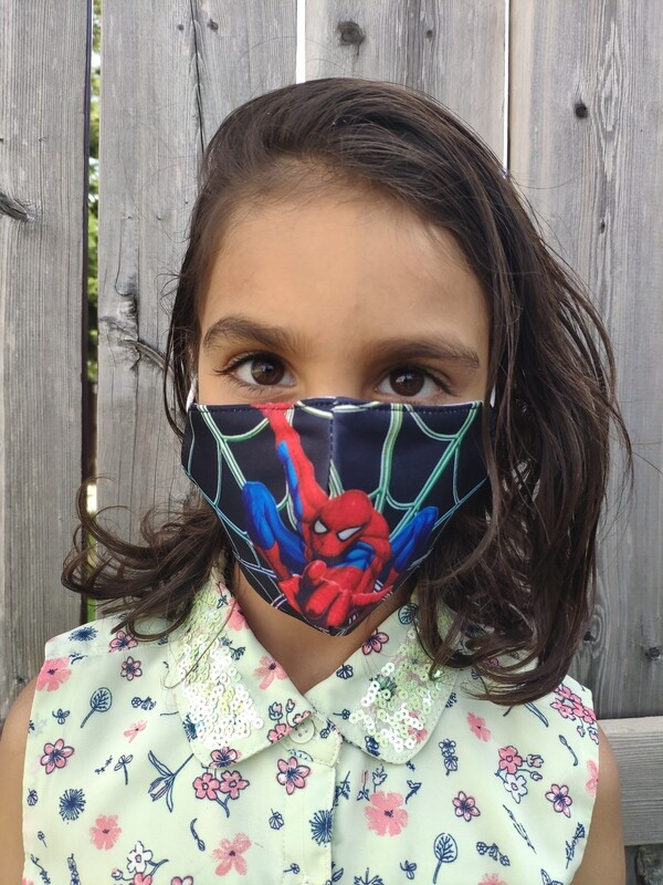 Kids Reusable Face Masks - Spiderman