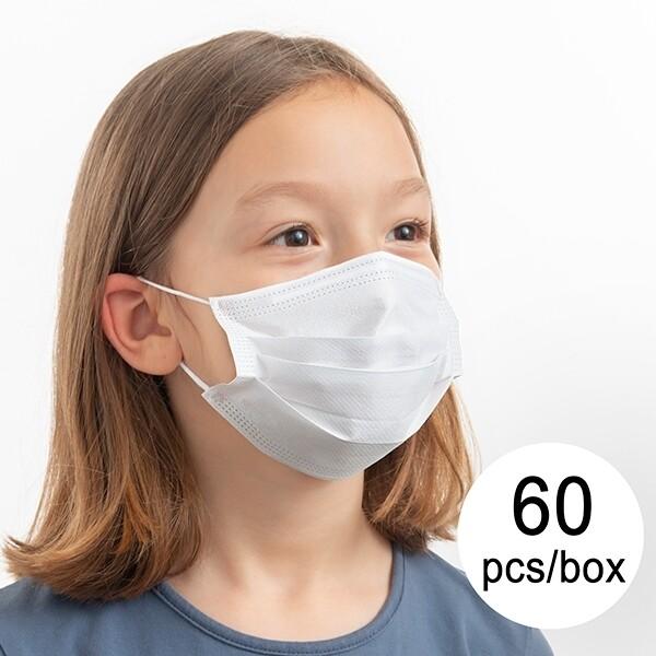 Kids Earloop Face Masks- Size M -BFE>95% (60/Box)