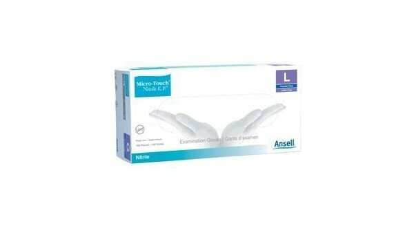 Ansell Micro-Touch Elite Powder-Free Examination Vinyl Gloves, Large