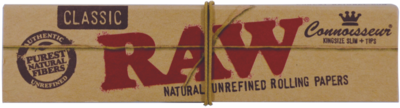 RAW Connoisseur King Size Slim Paper with tips