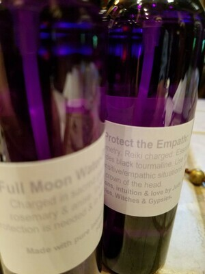Moon Water -Protect The Empath- One 4 oz bottle