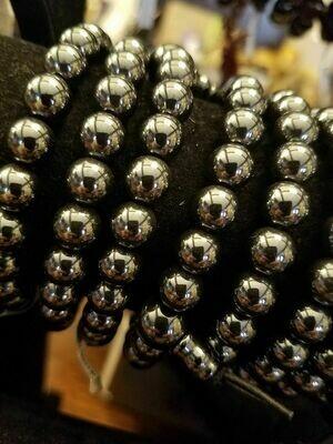 Hematite Bracelet -Stretch Elastic (one piece)