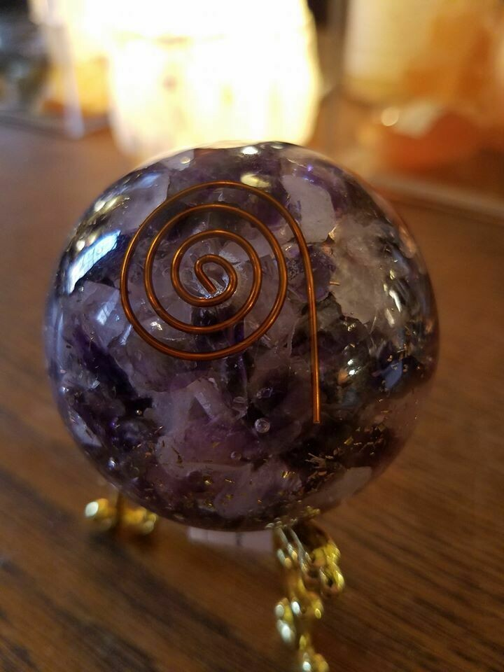 Orgone Amethyst with stand